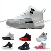 Wholesale French Tables - 2017 Retro 12 XII French Blue Pink Master OVO Kids Basketball Shoes Girl Boy 12s Sport Shoes Youth Basketball Sneakers 28-35