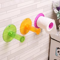 Wholesale Toilet Paper Shelf Holder - Wholesale- Colorful Simple colored Roll Paper Holders Toilet Roll Paper Rack Shelf Wall Mounted Bathroom Paper Holder A45