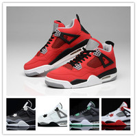 Wholesale Embroidered Top Women - 2016 Wholesale top quality Air Retro 4s white cement Bred Fire red retro 4 Men Women Basketball Shoes sneakers sports SIZE 36-47