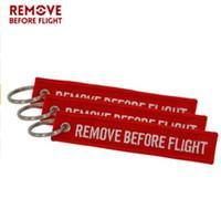 quitar etiquetas al por mayor-DHL libre Eliminar antes del vuelo llavero mujeres hombres bordado etiqueta etiqueta llavero bolsa encanto llavero bolso llaveros del coche