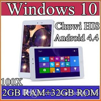 "Wholesale Tablet Os Wholesale - 100X Chuwi HI8 Tablet PC Dual OS Windows 10 & Android 4.4 Dual Boots Bay Trail Z3736F 2GB 32GB Quad Core 8"" 1920x1200 IPS BT OTG 2-8PB"