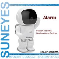 Wholesale Suneyes Wifi Wireless - SunEyes SP-S905WA 960P HD Alarm P2P Hidden Robot IP Camera Wireless Wifi Pan Tilt and Two Way Audio Support 433MHZ Alarm Devices