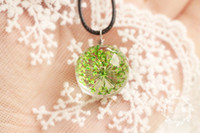 Wholesale Lucky Grass Pendant - Glass Ball Dome Plant Pendant Necklace Real Dried Flower Grass Leather Chain Fashion Cool Lucky Wish Jewelry Women Girl Wholesale