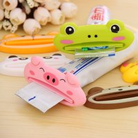 Wholesale Cartoon Toothpaste Sale - 2016 hot sale 1 pcs automatic toothpaste tool cute cartoon toothpaste squeezing device cleansing cream squeezer Toothpaste Tube Squeezer