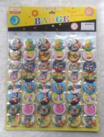 Wholesale Japanese Buttons Wholesale - Fashion badge New Arrival! Japanese anime Pika chu Poke mon 4.5 CM 3 sheets 144 pcs badge button fashion pin badge