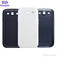Wholesale galaxy siii cases for sale - Back Housing Battery Cover for Samsung Galaxy S3 SIII i9300 Battery Door plastic case skin whit full logo