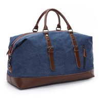 Wholesale Green Messenger Laptop Bag - Factory direct fashion high-grade leather canvas collocation capacity of men and women brand travel bag Leisure Canvas Bag Laptop Messenger