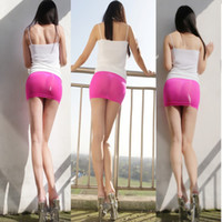 Wholesale Skinny Skirts - Hot Sexy See Through MINI Skirt Transparent Sheer Skinny Tight Pencil Cute Skirt Night Club Dance Fantasy Erotic Wear