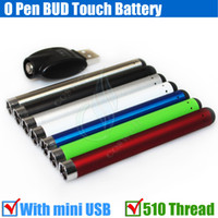 Wholesale Ecigarette Chargers - Top Bud touch Colorful battery 280mah 510 O Pen CE3 atomizers CBD vape Oil thick Waxy Smoking wax Tank mini usb charger ecigarette vapor DHL