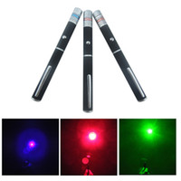 Wholesale Purple Laser Pen - High Power 5mw 3 Color Red Green Blue Purple Laser Pointer Pen Beam Light Mounting Night Hunting teaching Xmas gift
