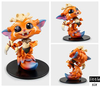 Wholesale Lol Miss - Cosplay LOL The Missing Link Gnar Primeval 10cm 3.9'' Q Version PVC GK Model Action Figures Toys Garage Kits Free shipping