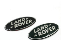 Wholesale Range Style - Car styling Aluminum Land Rover LR3 Sport Range Rover Discovery Front Grille Emblem Black Oval Badge