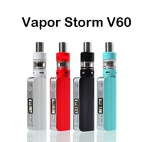 Wholesale Electronic Cigarette Led Kit - New Vapor Storm V60 0.3ohm LED Box Mod Temperature Control RDA Works Liquid for Electronic Cigarettes E-Cigarette Kits