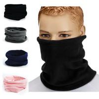 Wholesale 3in1 Ring - Wholesale-1PC 3in1 Winter Unisex Women Men Sports Thermal Fleece Scarf Snood Neck Warmer Face Mask Beanie Hats