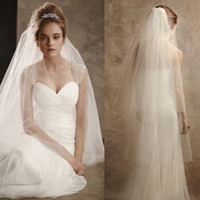 Wholesale Types Veils Wedding - European and American stars with double bridal veil combs type wedding new handbags mail covered face contracted wedding veil