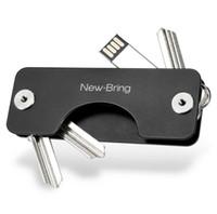 nuevos diseños de llavero al por mayor-Aluminio metálico EDC Key Wallets Hombres coche Key Holder Smart Housekeeper Nuevo diseño EDC Keys Organizador Keychain Bag Purse