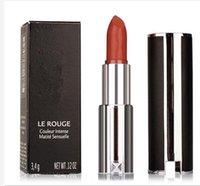 Wholesale Lipstick Factory - factory direct new makeup le rouge couleur lntense matite sensuelle GAAA 3.4g matte lipstick free shipping