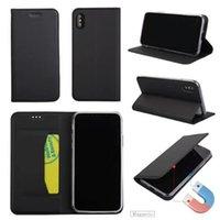 yumuşak hücrenin telefonunu toptan satış-Ultra ince manyetik PU Deri flip Cüzdan Kılıf Kart Yuvası Yumuşak Cep Telefonu Kapak iphone X 6 s 7 8 artı Samsung S8 ARTı