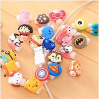 Wholesale Earphones Kawaii - Cartoon Cable Saver USB Charger Cable Earphone Wire Cord Protector For iPhone Plus iPad iPod Samsung Phone Cables Kawaii Cartoon Accessories