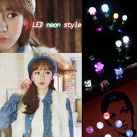 Wholesale 9 Pair Unisex Light Up LED Bling Ear Studs Earrings Accessories For Party Xmas Night Club Fashion Jewelry