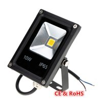 Wholesale Flood Covers - Ultrathin LED Flood Light 10W Black Cover AC85-265V Waterproof IP65 Floodlight Spotlight Outdoor Lighting Free Shipping