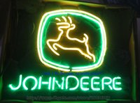 "Wholesale Deer Neon Sign - John Deers Neon Sign Beer Bar Store Club Pub KTV Real Glass Tube Advertising Display Neon Signs 17""X14"""