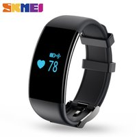 Wholesale Heart Rate Belt Android - SKMEI Brand New Smartband Touch Screen Waterproof Heart Rate Monitor Wristband Fitness Tracker Bracelet for IOS Android D21