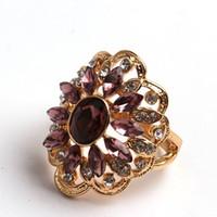 Wholesale Wholesale Masonic Rings - Fashion masonic ring for women crystal colorful flower 2016 cz diamond carter love finger ring wedding set rings women jewelry