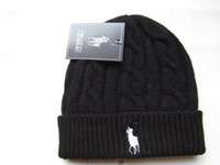 sombreros de lana de invierno al por mayor-Patrón de gafas corazón gorro de moda gorro de invierno de golf esquí lana polo cap ouHeadgear tocado Head Warmer esquí sombrero caliente