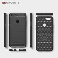 бесплатный телефон oppo оптовых-Бесплатный чехол DHL телефон для OPPO R11S R9S углеродного волокна волокна броня прочный противоударный задняя крышка для Vivo Х20 heaty Duty чехол