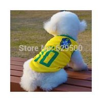 Wholesale Dog Football Clothes - Hot-sale Football Dog Clothes, 8 Counties available, Pet dog sport clothing, Football Team Jersey for Dogs 50pcs lot L028