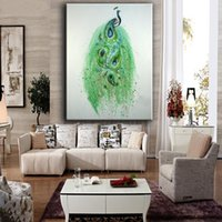 Novo abstrato Peacock Modern Hand Painted Home Decroation Wall Picture Oil Painting On Canvas Presente de Natal
