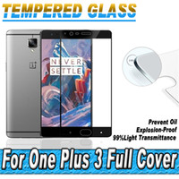 Wholesale oneplus tempered glass for sale - Tempered Glass Full Coverage Screen Protectors D Curved For Oneplus Three3 With Retail Package H MM
