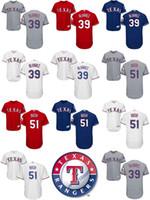 Wholesale Blue Bushes - 2017 Cheap Wholesale Adult Women Youth Texas Rangers 39 Dario Alvarez 51 Matt Bush Home Road Alternate Cool Flex Base Baseball Jerseys