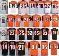 Wholesale Aj Green - 14 Andy Dalton 18 AJ Green 85 Tyler Eifert John Ross William Jackson III Tyler Boyd Darqueze Dennard Giovani Bernard Jeremy Hill Jersey