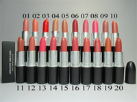 Wholesale Lustre Long - 2016 Hot Sale Lustre Listick Make-up Art Comestics 20 different Colors Lipstick With English Name 3g Free shipping 10pcs lot