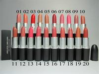 nombre maquillaje al por mayor-2016 venta caliente Lustre Listick maquillaje arte comics 20 colores diferentes lápiz labial con nombre inglés 3g envío gratis 10 unids / lote