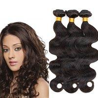 Wholesale Brazilian Body Wave Hair 12 - UUHair 7A Top Grade Brazilian Human Hair Body Wave Hair Weft Natural Color 3pcs lot Human Hair Weft