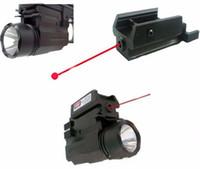 Wholesale Led Laser For Gun - 2in1 Red Dot Laser Sight+ LED Flashlight Combo Hunting Glock Accessories for Pistol Guns Glock 17,19,20,21,22,23,30,31,32