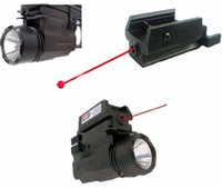 2in1 Red Dot Laser Sight + LED Linterna Combo Caza Glock Accesorios para Pistol Guns Glock 17,19,20,21,22,23,30,31,32