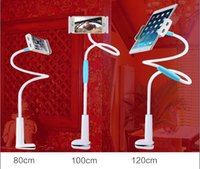 Wholesale Rotating Arm - Wholesale-120cm 360 Rotated Adjustable Tablet Holder Flexible Stand Foldable Arm Bed Soporte Para Tablet Car For Iphone Samsung HTC