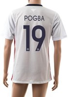 Thai Qualité Customized 2016 # 15 Pogba Soccer Jersey Shirts, gros Divers Discount Cheap # 7 RIBERY # 10 Vêtements de sport ZIDANE tops