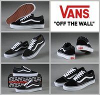 Wholesale Custom Rubbers - 2017 Vans Classic Old Skool Low Cut Casual custom Canvas Running Shoes White Black Brand Women Men Casual Skateboarding Sneakers 36-44