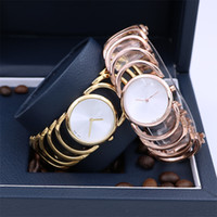 Wholesale Sparkling Gold Dress - Rose gold Women Dress Watches Feminino Fashions Quartz Manual Chain Hawaiian Style Sparkling Lady Wristwatches Relojes Mujer