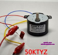 Wholesale Geared Synchronous Motors - Free shipping ! 50KTYZ permanent maglev synchronous motor 220V 6W-10W 50RPM micor gear motor,new in stock ~