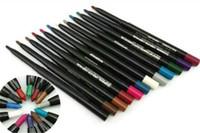 göz kalemi kalem dudak 12 toptan satış-12 renk Marka M eyeliner dudak kalemi eyeliner kalemler yeni eyeliners stilleri Otomatik döndür İşlevli astar