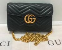 Wholesale Popular Designer Handbags - Hot style High Quality Women Leather gg handbag Famous Brand Designer Chian cc Crosbody Bags for Women Single Shoulder Bag popular totes bag