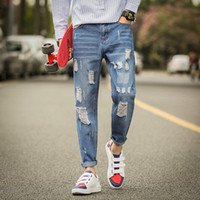 Wholesale Hot Style Men Jeans Teenage Mens Jeans Denim Pants for Men Capris Pants Fashion Men Jeans