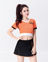 Wholesale-Excited Style Style Glee Cheerleading Uniformes Sexy Dress Uniforme Adulto Meninas Sport Cheerleader Costume From China