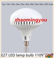 lâmpada do navio ufo venda por atacado-Grande poder E27 lâmpada LED 110 V 220 V 12 w 16 w 18 w 24 w 30 w 36 w 40 w 50 w 60 w lâmpada LED estilo navio espacial Quente / branco 5730 UFO LED